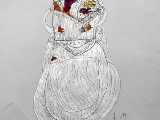 Slubna kobieta. Ja wezme slub! Justyna M. 40,1x50,2 cm